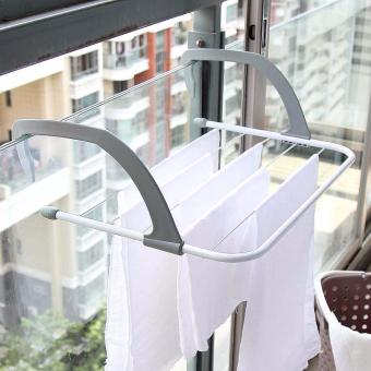 Collapsible Towel Clothes Hanger Multi-purpose Clothes Rack - intl