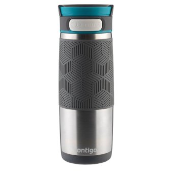 Contigo AUTOSEAL Metra/Transit Stainless Steel Travel Mug, 16 oz, Blue Accent