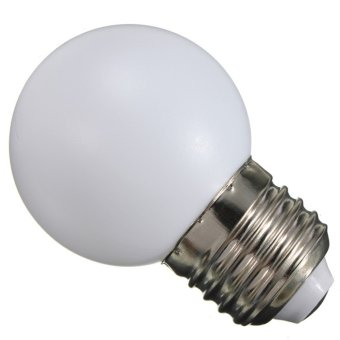 BolehDeals 220V E27 2W Energy Saving LED Golf Ball Light Bulb Party Globe Lamp White(Export)