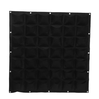 Harga 42 Pockets Planting Bag Vertical Wall Hanging Flower Growing Container (Black) - intl