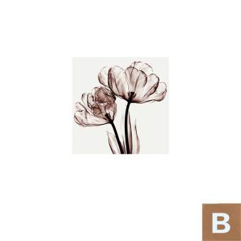 Harga Cloud elegant transparent flower paintings framed painting decorative painting modern minimalist living room bedroom bedside fabric wall painting