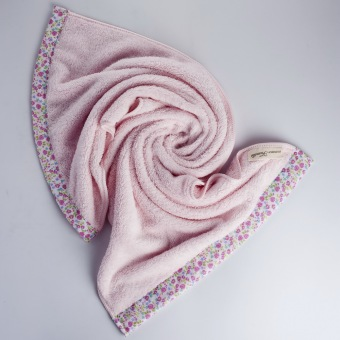 NASTEX Japan famille microfiber floral luxe bath towel, 70 x 140 cm (Pink) - 3