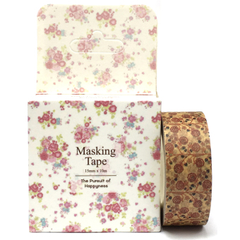 Harga Floral Design Decorative Washi Masking Tapes (Multicolour)