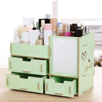Harga Manufacturers Looking To Show Seoul New 57 Large Hot Selling New Wooden Box DIY Jewelry Box - intl