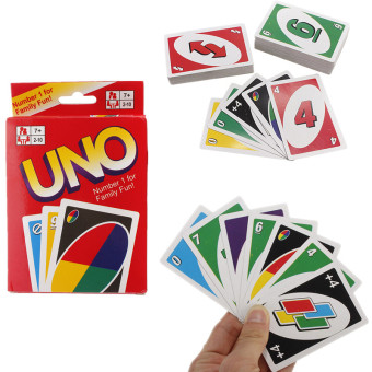 Harga Standard Uno Card Game Family Children Friends 108 Playing Fun Cards