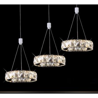 Harga Shifan Pendant Light 65CM 27W Three Heads (Warm Light/White Light) Stainless Steel Creative Crystal Hanging Lighting Ceiling Fixtures WM5338 - intl