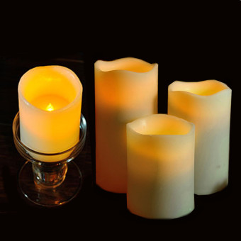 4PCS Of 1SET Fashion Led Flameless Flickering Tealight Candles Battery Operated For Wedding Birthday Party Christmas Safty Home Decoration - Intl - 5