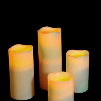 4PCS Of 1SET Fashion Led Flameless Flickering Tealight Candles Battery Operated For Wedding Birthday Party Christmas Safty Home Decoration - Intl - 3