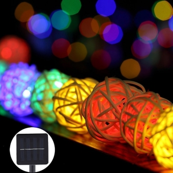 Harga 30LED 20ft Solar Powered Waterproof String Fairy Lights (Colorful Light)
