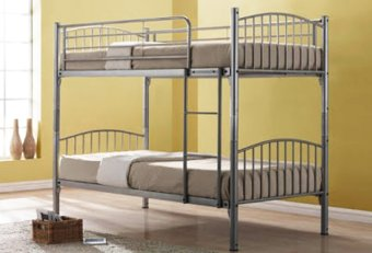 Harga Furniture Living Metal Double Decker Bedframe (Silver)