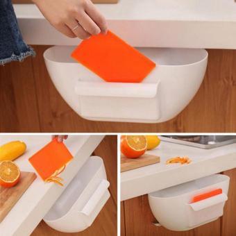 Home Kitchen Cabinet Trash Storage Box Organizers Garbage Holder Portable Rubbish Storage Bins Organizer 29x17x11.5cm - intl - 3