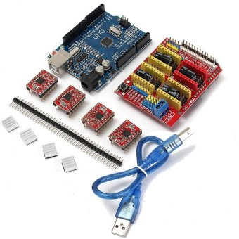 Harga V 3.0 Engraver CNC Shield+Board+A4988 Stepper Motor Drivers For UNO R3 Arduino - intl