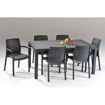 Harga 6 Bali Chairs and Melody Table Set