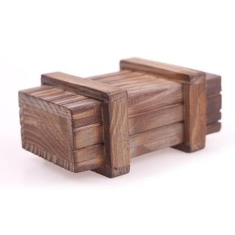 Harga BUYINCOINS Magic Wooden Puzzle Box Puzzle Wooden Secret Trick Intelligence Compartment Gift