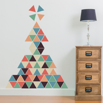 Harga Walplus Combo Christmas Deco (Triangle) Wall Stickers - intl