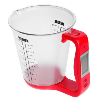 Harga HL Digital Measuring Cup Scale W/ Lcd Display Weight &Amp;Temperature - intl