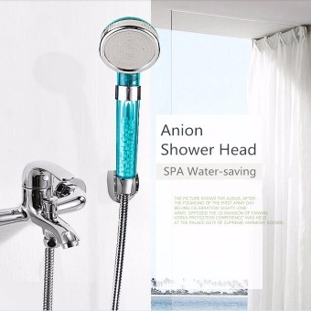 Harga S Size Anion SPA Water-saving Shower Head Filtration Handheld Nozzle Bathroom - intl