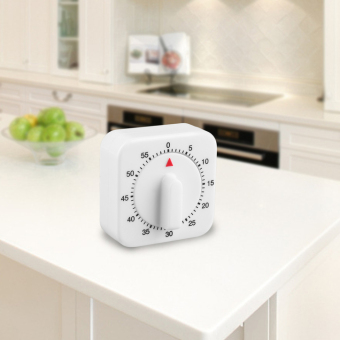 Allwin Square 60 Minute Mechanical Kitchen Cooking Timer Food Preparation Baking