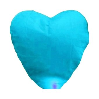 Harga Sky Lantern Party Chinese Heart Sky Blue - intl