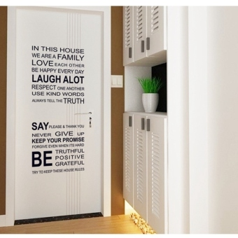 Harga Wall Decals Words and Quotes PVC Wall Stickers