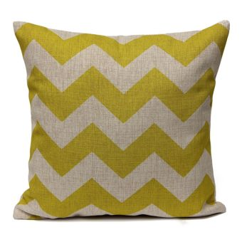 Harga Teamtop Chevron Zig Zag Vintage Linen Cushion Cover Home Wave Ripple Throw Pillow Case (EXPORT)- INTL
