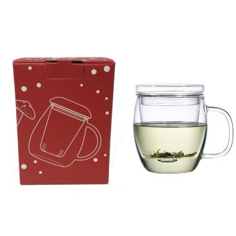 Mug with Tea Filter / Glass Teacup with Filter - 2