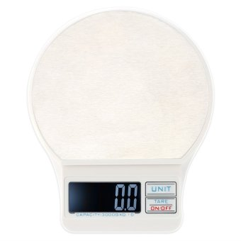 Harga Mini Electronic Balance Professional Digital Pocket Scale Kitchen Scales Food Weighing Tool White 3000g/0.1g