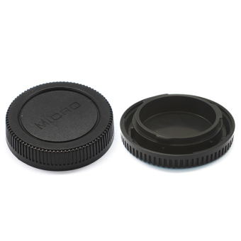 Harga Lens Rear Cap and Camera Body Cap Set for Micro Four Thirds M4/3