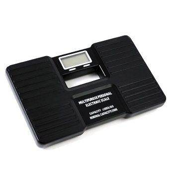 Harga 150KG Digital Electronic Fitness Bathroom Body Fat Weight Scale Health Weighing