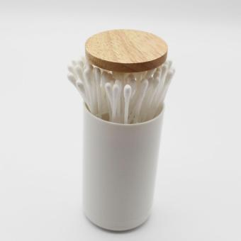 Harga Shoppy Yuzu Wooden Cotton Swab Dispenser