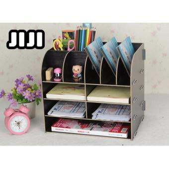 Harga JIJI TB-04 File Storage Rack/ Cupboard/ Makeup Table Organizers ★Acrylic ★Table Organizers ★Drawers ★Storage ★Compartment ★Cabinets