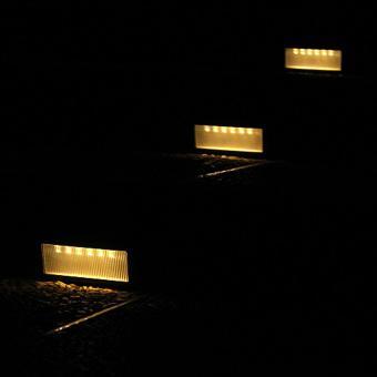 Solar Power PIR Motion Sensor Wall Light Waterproof Warm White Light - 2
