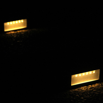 Solar Power PIR Motion Sensor Wall Light Waterproof Warm White Light - 3