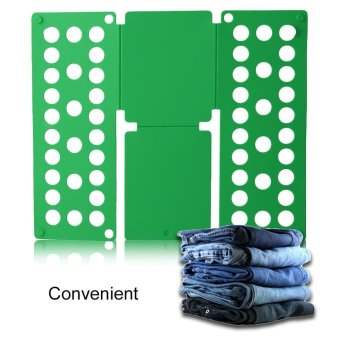 Harga Beau Home Convenient Clothes Folder Organizer Plastic Quick Shirt Folding Board Green - intl