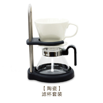 Harga Brown Yi hand punch coffee filter cup ceramic filter drip filter-coffee red bubble pot drip cup coffee pot