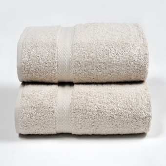 Harga Canopy Luxe Egyptian Cotton Bath Towel Sand (2PCS)