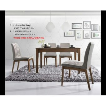 Harga BFF3009-DS Solid Wooden Dining Set