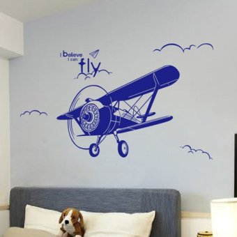 Harga Creative wall sticker bedroom decor bedside restaurant entrance living room wallpaper adhesive stickers cartoon plane wall stickers