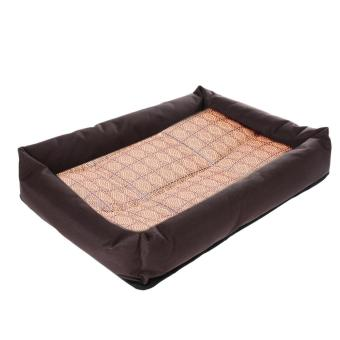 Harga New Soft Pet Dog Summer Cooling Bed Mat(Coffee) (EXPORT)