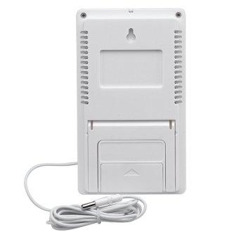 TA298 Indoor Outdoor Therometer w/ Hygrometer Clock - White - intl - 3