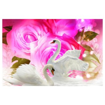 Harga DIY 5D Diamond Embroidery Painting Roses and Swan Home Decoration