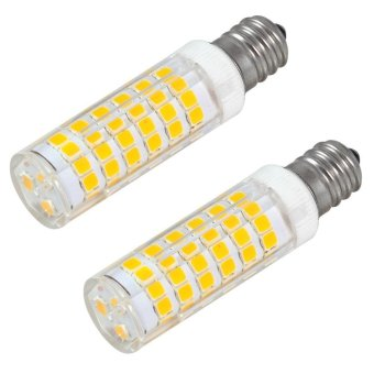 Harga MENGS® 2Pcs E12 7W LED Corn Light 75x 2835 SMD LEDs Lamp Bulb In Warm White