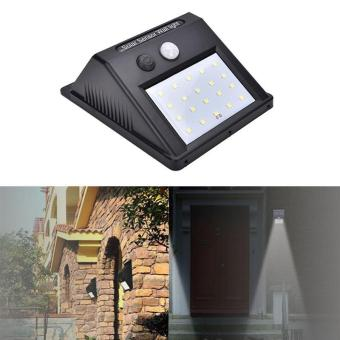 Harga High Quality Store New New 20 LED Waterproof Motion Sensor Solar Power Wall Light Outdoor Security Lamp Security