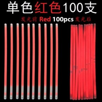 Harga Glow Light Stick - Red 100pcs
