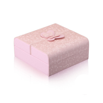 Harga Welink Butterfly Double Door Jewelry Storage Box Earring Necklace Case Bracelet Organizer (Pink)