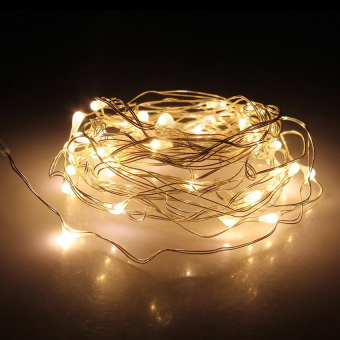 Harga Yika 50LED String Copper Wire Battery Powered Waterproof Fairy Light (Warm White)