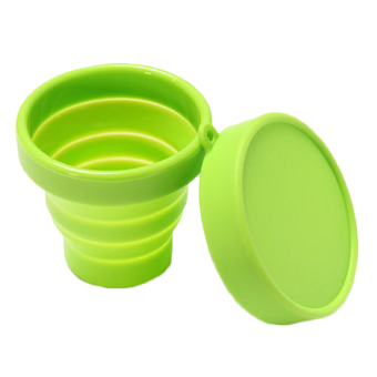 Harga Jetting Buy Portable Silicone Retractable Folding Cup Green