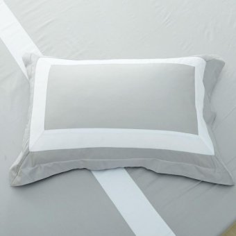 Harga Hotelier Prestigio™ Luxury Cliff Grey Base White Border Pillow Case