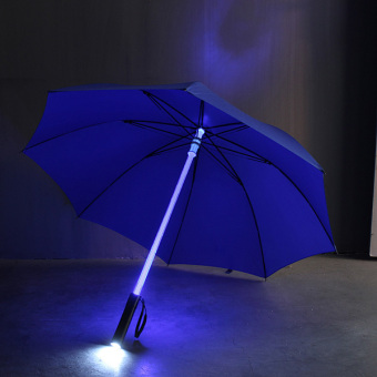 Harga Cool Light Saber LED Steady on/fast Flashing Light Up Umbrella Night Protection Blue