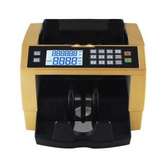 LCD Display Automatic Multi-Currency Cash Banknote Money Bill Counter Counting Machine with UV MG Counterfeit Detector External Display Panel for EURO US Dollar AUD Pound Gold - intl - 4
